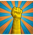 Hand with clenched fist vector image