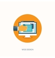 Web design Flat computing vector image