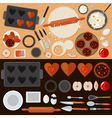 Bakery Sweets Set with Ingredients vector image