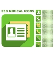 Patient Accounts Icon and Medical Longshadow Icon vector image