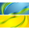 Bright smooth waves banners design vector image
