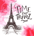 beautiful image of Paris on watercolor background vector image