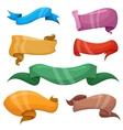 Cartoon banners and comic ribbons set vector image