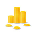 coins stack icon flat finance vector image
