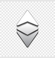 ethereum classic trendy 3d style icon vector image
