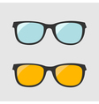 Glasses set Blue and yellow lenses Isolated Icons vector image