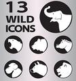 icon wild vector image