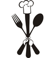 Menu knife fork spoon vector image