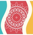 Outlined mandala in bended lines frame vector image