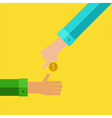 Pay and receive money vector image