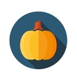 Pumpkin flat icon with long shadow vector image