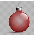 Transparent Christmas ball Glass tree Toy Red vector image
