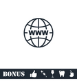 World Wide Web icon flat vector image