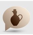 Amphora sign  Brown gradient icon on vector image