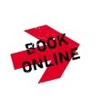 Book online stamp vector image