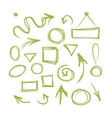 Arrows and frames sketch for your design vector image vector image
