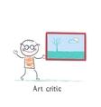 cartoon art kid vector image