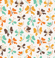 Seamless pattern of butterflies from bows vector image