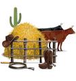 Cowboy Farming Concept vector image vector image