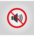 The no sound icon Volume Off symbol Flat vector image
