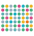 Digital linear icons set Color vector image