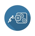 Integration of Innovation Icon Flat Design vector image vector image