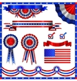 Collection of usa patriotic emblems vector image