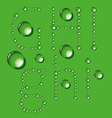 Water Drop Letters On Green New 03 vector image vector image
