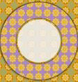 Circular photo frame vector image