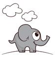 Happy elephant vector image