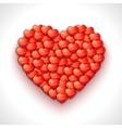 Heart shape of hearts Valentine holiday vector image