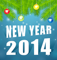 New Year2014 under the tree vector image