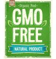 No GMO vector image