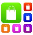 shopping bag set collection vector image