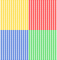 Seamless gingham pattern in four colors vector image