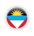 Antigua and Barbuda icon circle vector image
