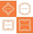 Floral outline frames and borders mono vector image