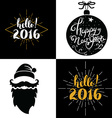 hello 2016 year vector image
