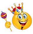 king emoticon vector image