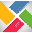 Large colored boxes with blank space for text vector image