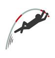 pictogram man practice pole vault sport vector image