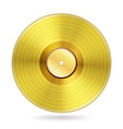realistic golden records disc vector image