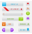 Set of white and clean web buttons vector image
