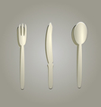 silverware cut from paper vector image