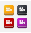 square button video vector image