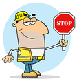 Caucasian Traffic Director Man vector image vector image