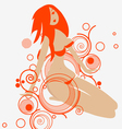 Red lips Red Hair vector image