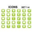 icons with rounded corners vector image vector image