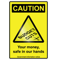 Budget cuts hazard Sign vector image