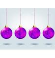 Christmas balls over elegant background EPS 8 vector image vector image